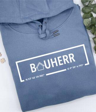 Hoodie Bauherr in Nordic Blue