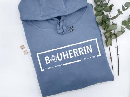 Hoodie Bauherrin in Nordic Blue