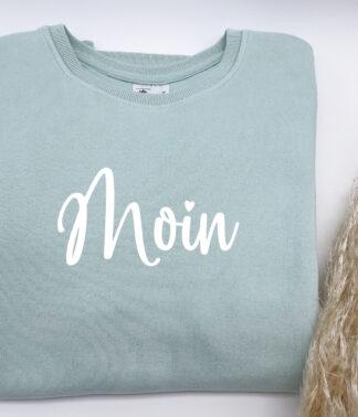 """Pullover für Damen """"Moin"""" in Mint-Grün"""