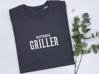 """T-Shirt """"Auftragsgriller"""" in Asphalt-Grau"""