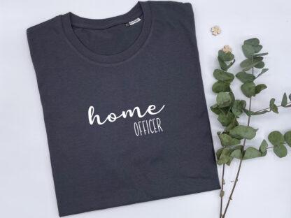 T-Shirt Homeofficer in Asphalt-Grau