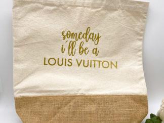 "Jute Shopper ""Louis Vuitton"" aus Baumwolle"